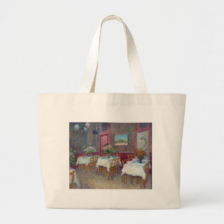 'Interior of a Restaurant' by Vincent Van Gogh Large Tote Bag