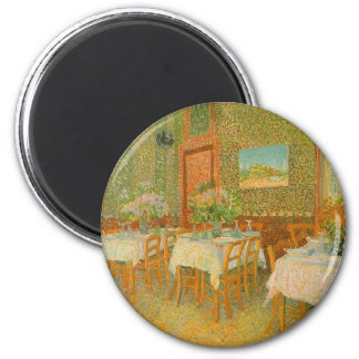 Interior of a Restaurant by Vincent van Gogh Magnet