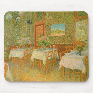 Interior of a Restaurant by Vincent van Gogh Mouse Pad