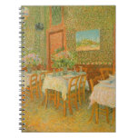 Interior of a Restaurant by Vincent van Gogh Spiral Note Book