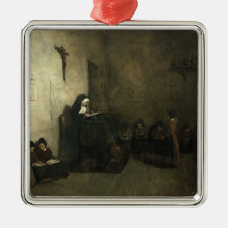 Interior of a School for Orphaned Girls, 1850 Metal Ornament