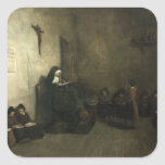 Interior of a School for Orphaned Girls, 1850 Square Sticker
