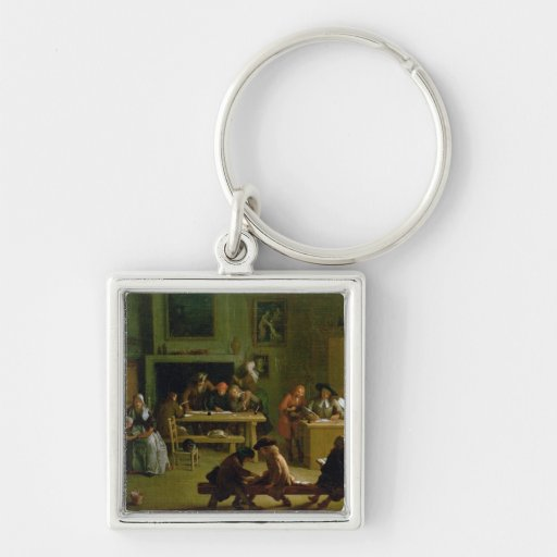 Interior of a Schoolroom Key Chain