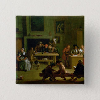 Interior of a Schoolroom Pinback Button