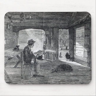 Interior of a settler's hut in Australia Mouse Pad