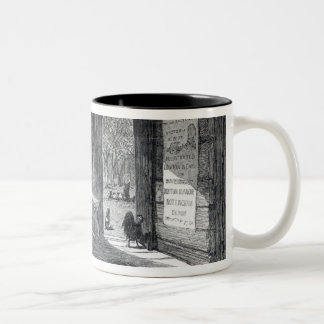 Interior of a settler's hut in Australia Two-Tone Coffee Mug