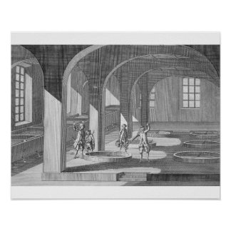 Interior of a Soap Factory, illustration for an en Posters