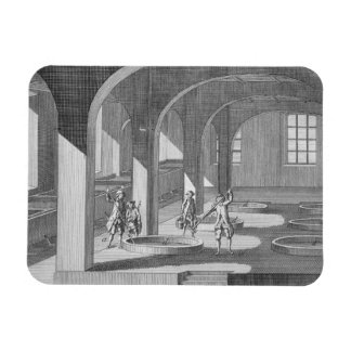 Interior of a Soap Factory, illustration for an en Rectangular Photo Magnet