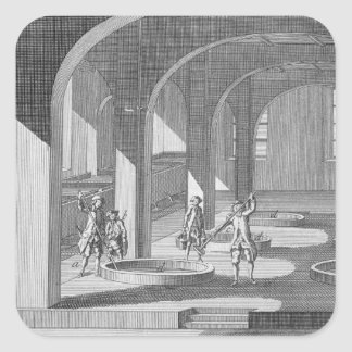 Interior of a Soap Factory, illustration for an en Square Sticker
