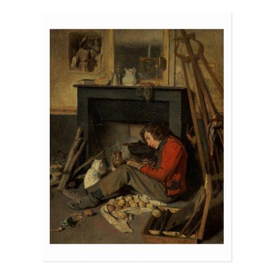 Interior of a Studio, 1845 (oil on canvas) Postcard