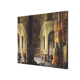 Interior of a Temple, 1652 Gallery Wrapped Canvas