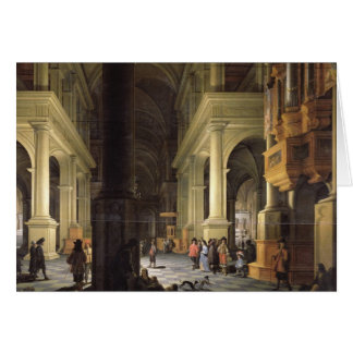 Interior of a Temple, 1652 Card