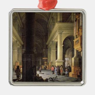 Interior of a Temple, 1652 Metal Ornament