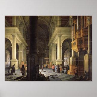 Interior of a Temple, 1652 Print
