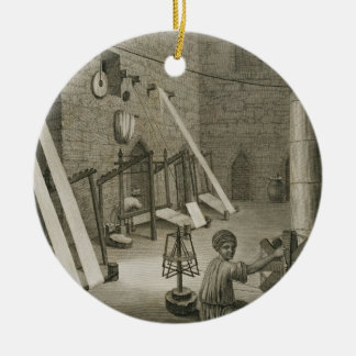 Interior of a Weaver's Workshop, from Volume II Ar Ceramic Ornament