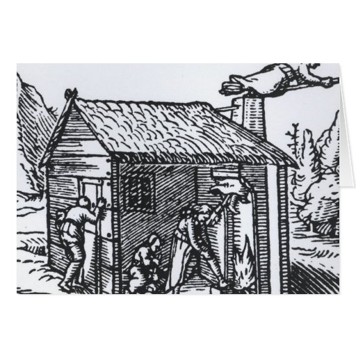 Interior of a Witch's House, 1579 Card