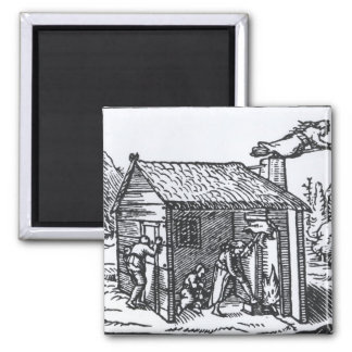 Interior of a Witch's House, 1579 Magnet
