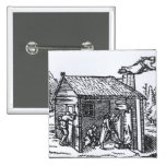 Interior of a Witch's House, 1579 Pinback Button