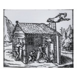 Interior of a Witch's House, 1579 Poster