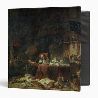 Interior of an Alchemist's Study 3 Ring Binder