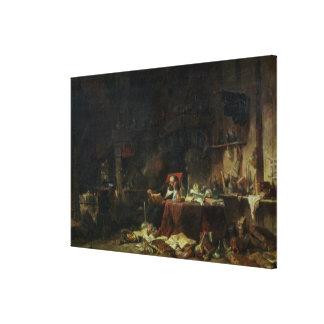 Interior of an Alchemist's Study Canvas Print