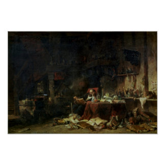 Interior of an Alchemist's Study Poster