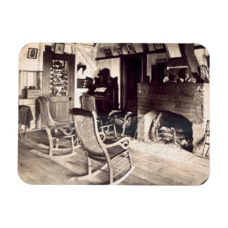 Interior of an American wooden shack, c.1880s (pho Rectangular Photo Magnet