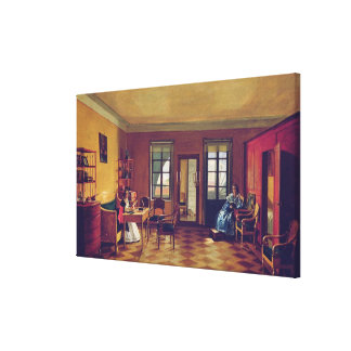 Interior of an attic gallery wrapped canvas