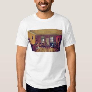 Interior of an attic tee shirt