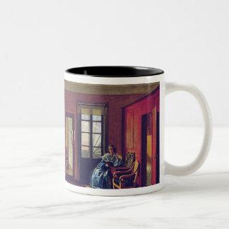 Interior of an attic Two-Tone coffee mug