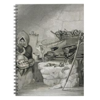 Interior of an Eskimo Snow Hut, Winter Island 1822 Notebooks