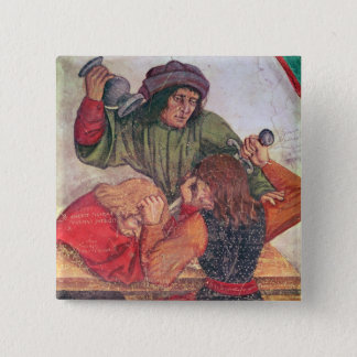 Interior of an Inn, detail of drinkers fighting Button