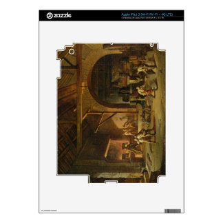 Interior of an Ironworks, 1850 (oil on canvas) Decal For iPad 3