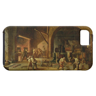 Interior of an Ironworks, 1850 (oil on canvas) iPhone SE/5/5s Case