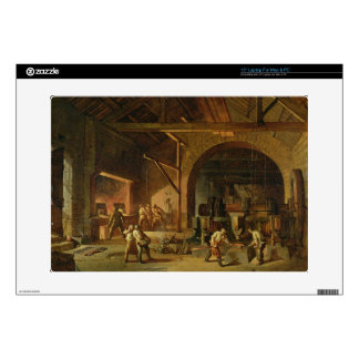 Interior of an Ironworks, 1850 (oil on canvas) Laptop Skins