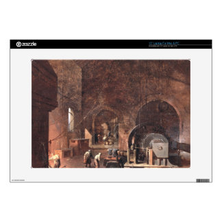 Interior of an Ironworks, c.1850-60 (oil on canvas Decals For Laptops