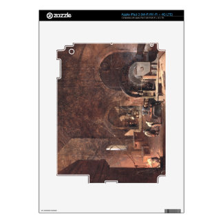 Interior of an Ironworks c 1850-60 oil on canvas iPad 3 Decal