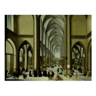 Interior of Antwerp cathedral Postcard