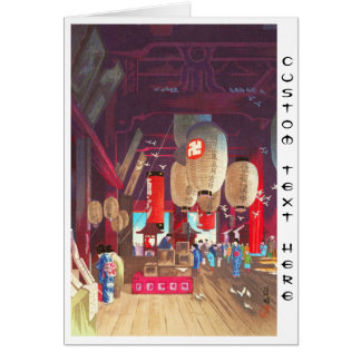 Interior of Asakusa Kannon Temple Narazaki Eisho Card