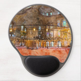 Interior of Blue Mosque in Istanbul Turkey Gel Mouse Pad