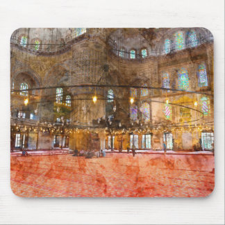Interior of Blue Mosque in Istanbul Turkey Mouse Pad