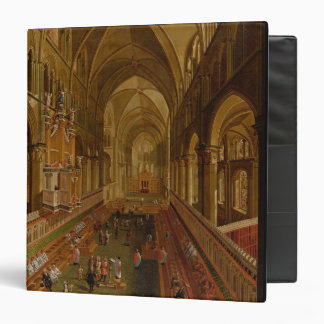 Interior of Canterbury Cathedral, c.1675-1700 (oil 3 Ring Binder