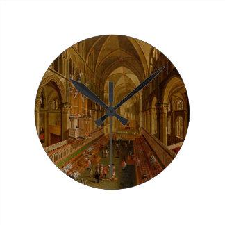 Interior of Canterbury Cathedral, c.1675-1700 (oil Round Clock