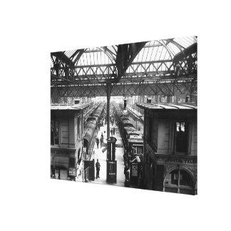 Interior of Charing Cross Station, London Canvas Print