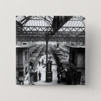 Interior of Charing Cross Station, London Pinback Button