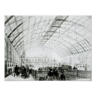 Interior of Charing Cross station Poster