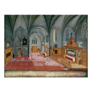 Interior of Church from L Abbaye de Poster