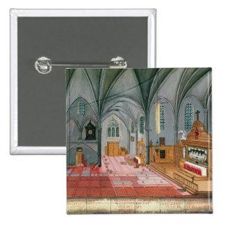 Interior of Church, from 'L'Abbaye de Pinback Button