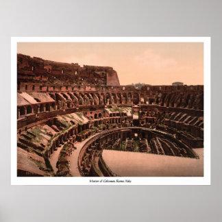 Interior of Coliseum, Rome, Italy Poster