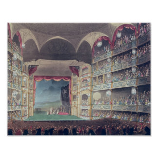 Interior of Drury Lane Theatre, 1808 Poster